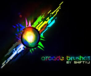 Abstract Arcade Set Photoshop Brush