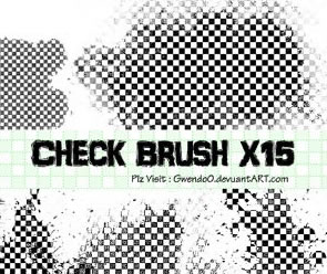 Abstract Photoshop Check Brushes