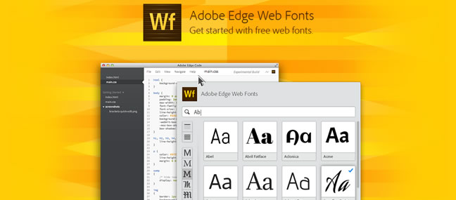 Adobe Edge Web Font screenshot