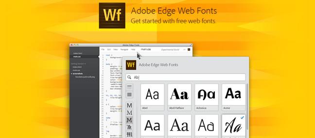 Adobe Edge Web Font screenshot