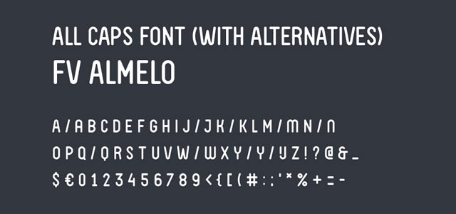 FV Almelo is a Free web print Font for titles and headlines