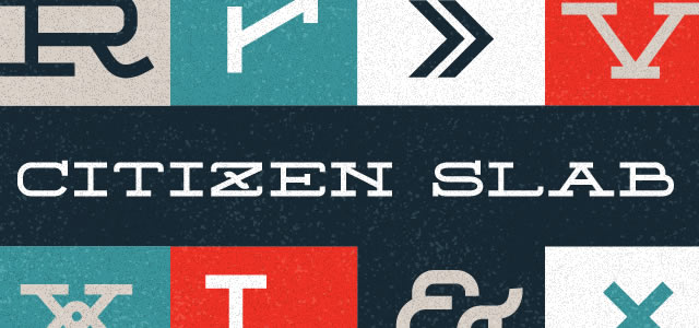 Citizen Slab is a Free web print Font for titles and headlines