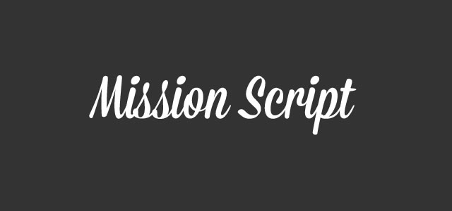 Mission Script is a Free web print Font for designers