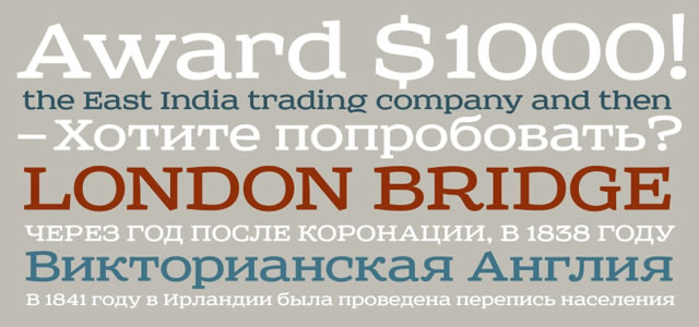 Sreda is a Free web print Font for titles and headlines