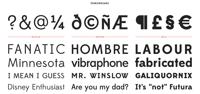 Edmondsans is a Free web print Font for titles and headlines