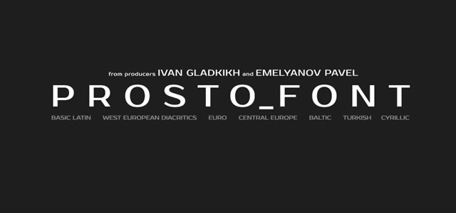 Prosto is a Free web print Font for designers