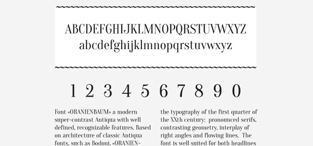 Oranienbaum is a Free web print Font for designers