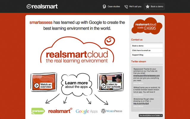 RealSmart as an example of a well designed landing pages