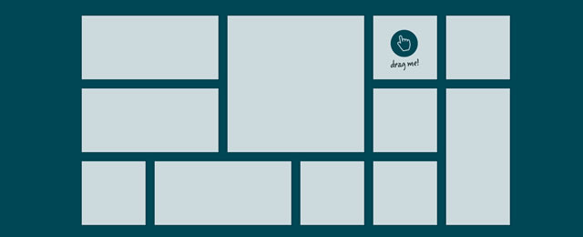 gridster.js is a plugin tha thelps you build intuitive draggable layouts