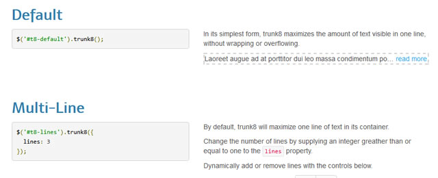trunk8 is a text truncation plugin to jQuery