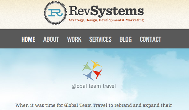 Rev Systems website responsive layout design