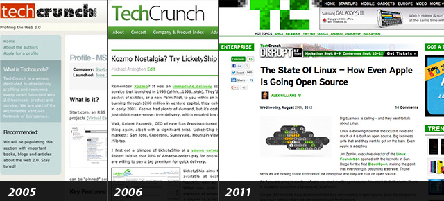 the Techcrunch Redesign