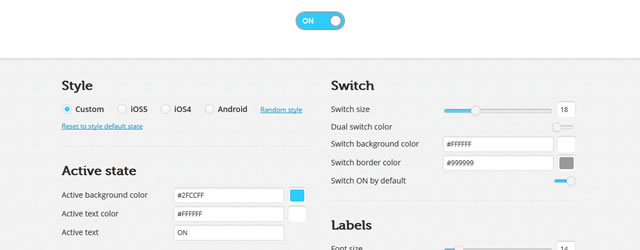 On/Off Flipswitch HTML5/CSS3 Generator