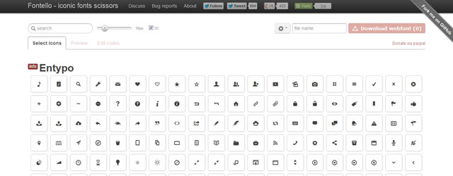 Fontello is a Easy Iconic Fonts Composer Web Development Resources