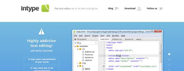 Intype Text Editor