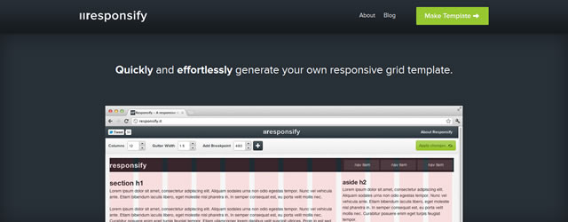 Responsify.it A Responsive Template Generator