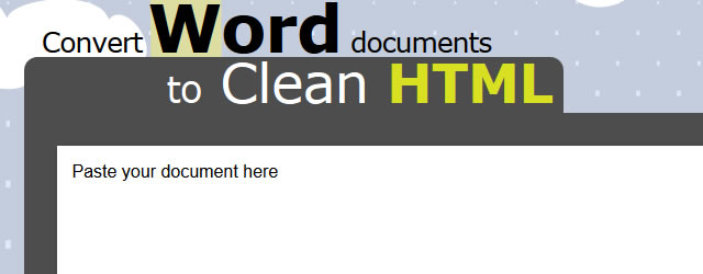 Word2cleanhtml Convert Word Documents to Clean HTML