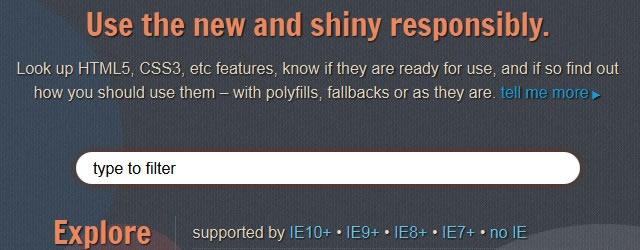 HTML5 Please offers recommendations for polyfills and implementation