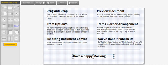 MockNow is a An Online Wireframing Sharing Tool