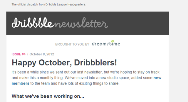 Dribbble email newsletter design Salem MA