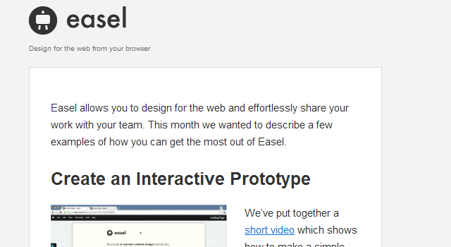 Easel online graphics editor newsletter