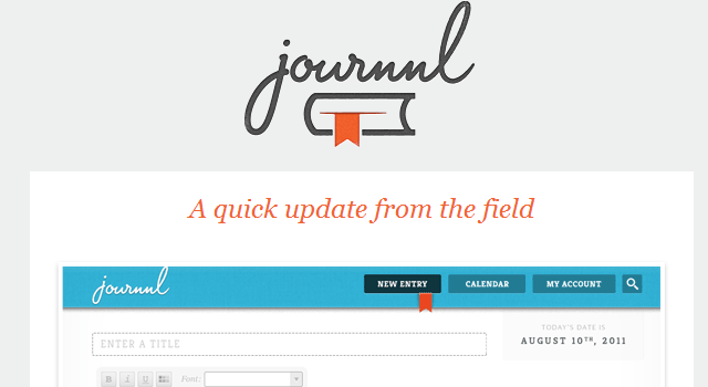 email newsletter template Journnl design