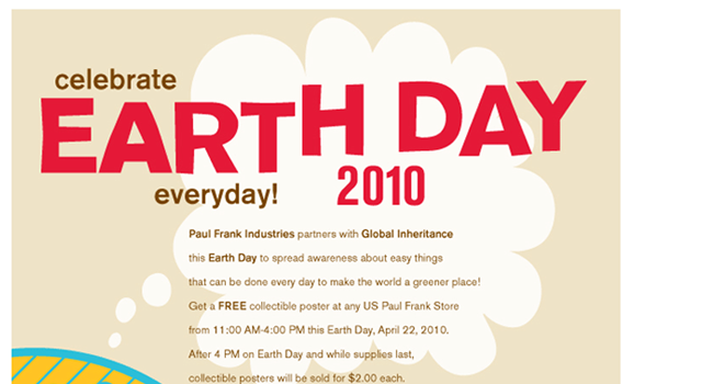 Celebrate Earth Day 2010 email newsletter
