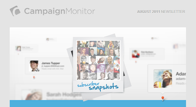 August 2011 newsletter Campaign Monitor design