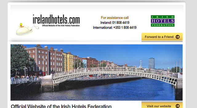 email newsletter Ireland Hotels design