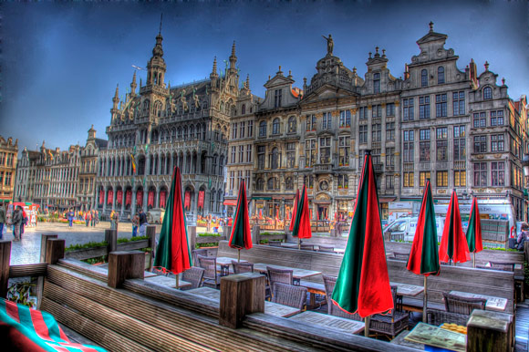 Grote Market Brussels is a fantastic example of Architectural hdr Photography