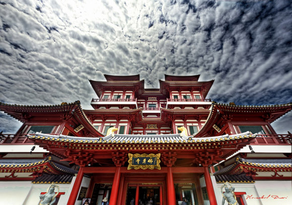 Buddha Tooth Relic Temple Architectural Photography with an HDR style