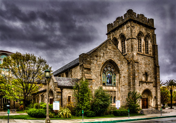 All Saints Episcopal Church is a fantastic example of HDR Architectural Photography