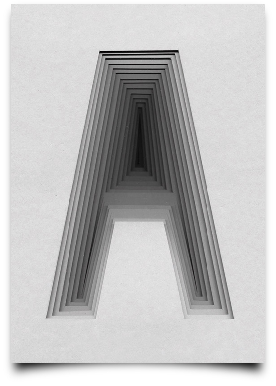 the letter a alphabetical type illustrations simply by putting scalpel to paper