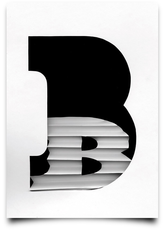 the letter b from the creative Type Scan Alphabet