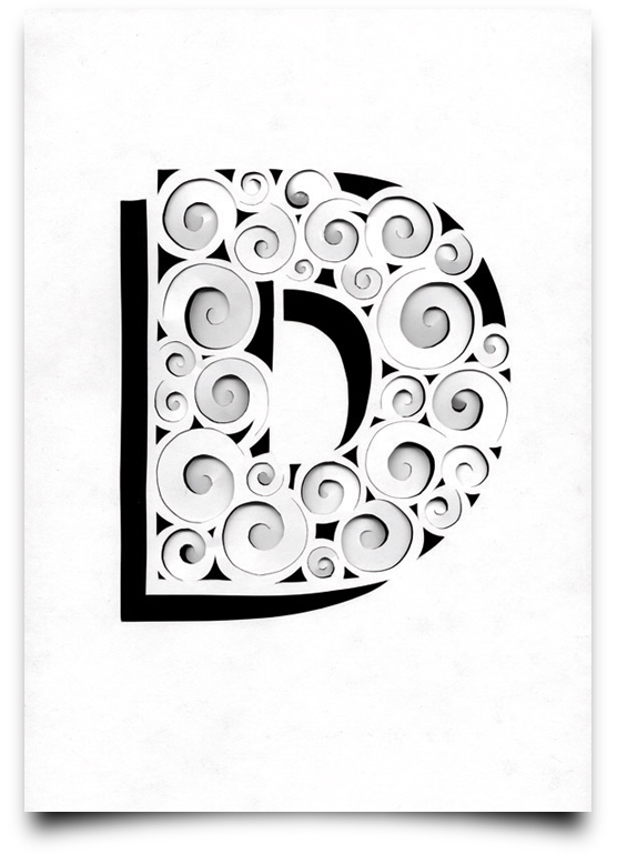 the letter d from the creative Type Scan Alphabet