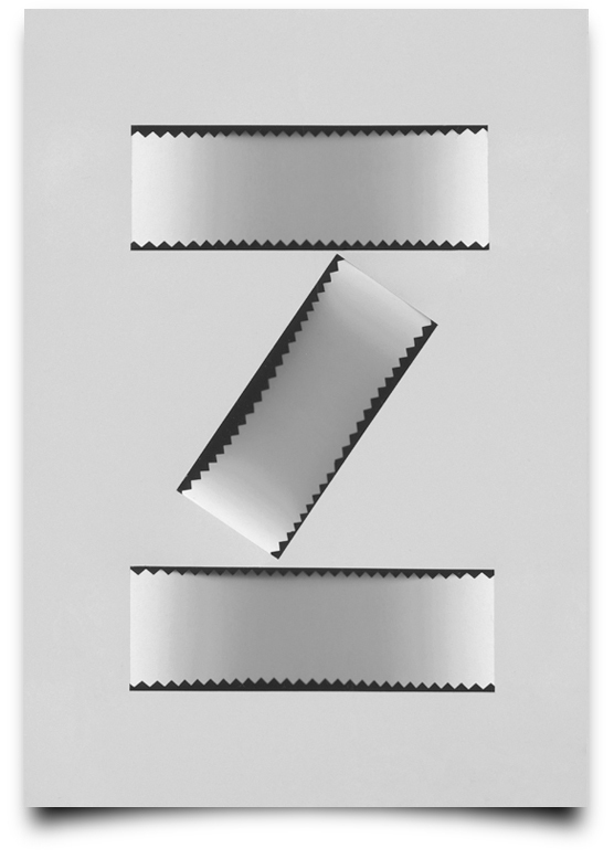 the letter z from the creative Type Scan Alphabet