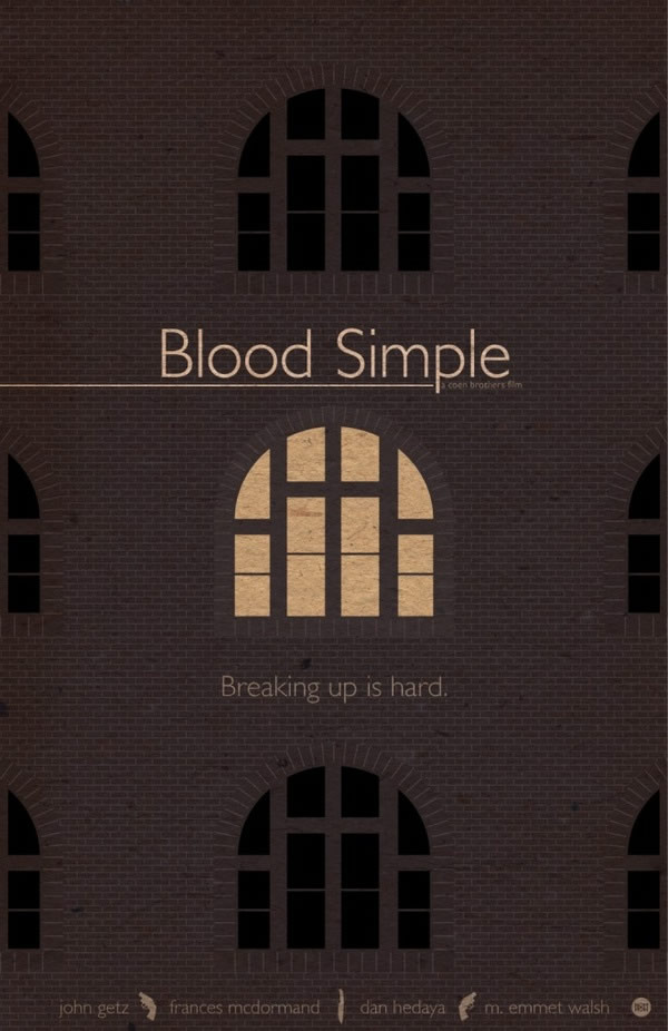 blood simple Coen Brothers Poster Series