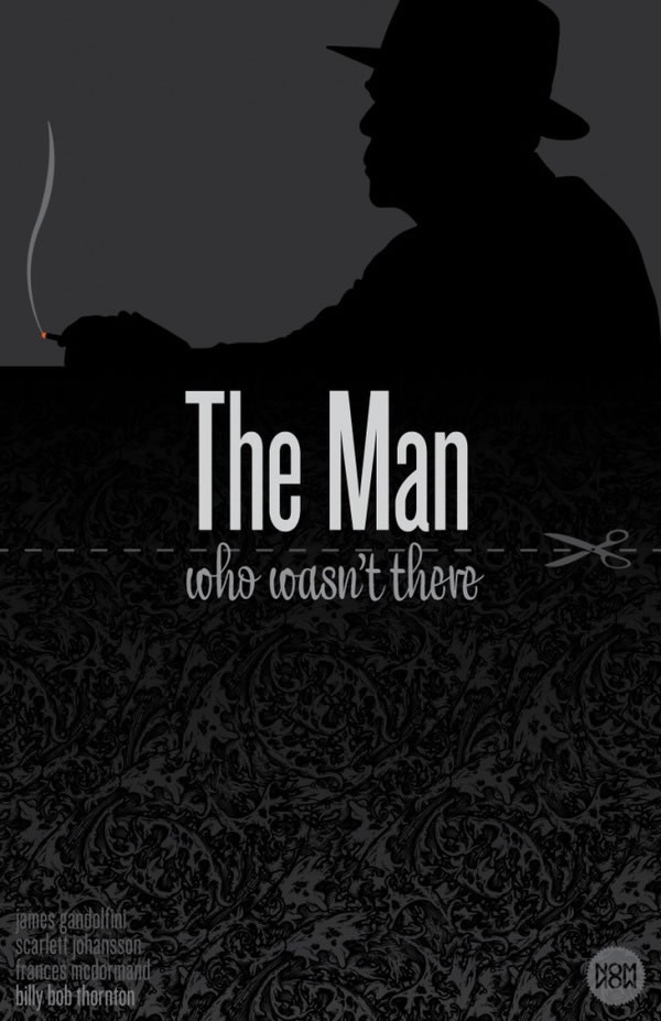 the man who wasnt there Coen Brothers Poster Series