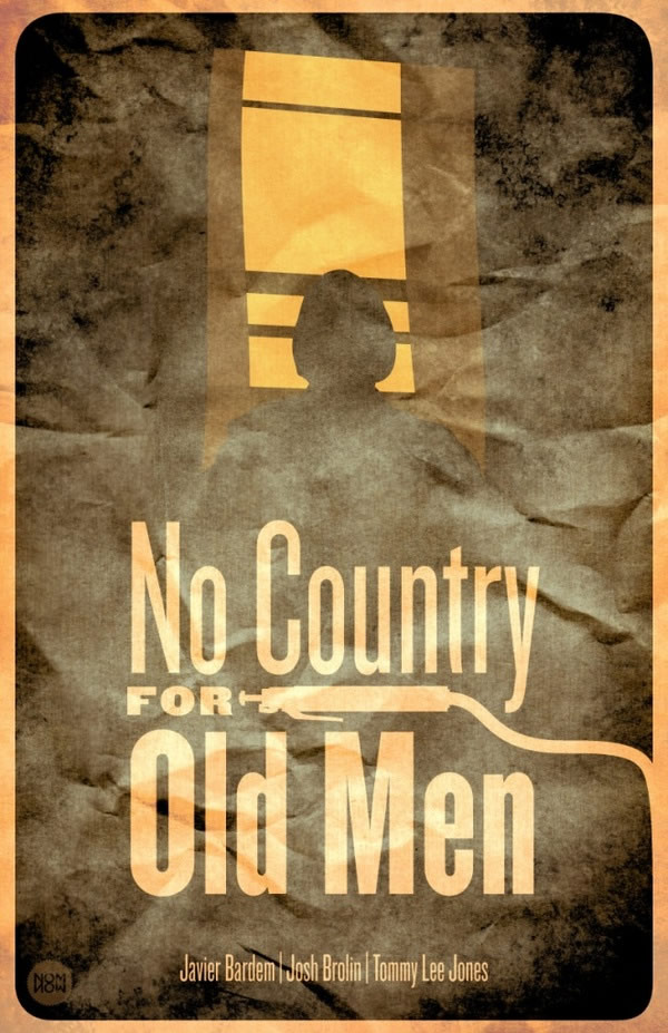 no country for old men Coen Brothers Movie Poster Redux