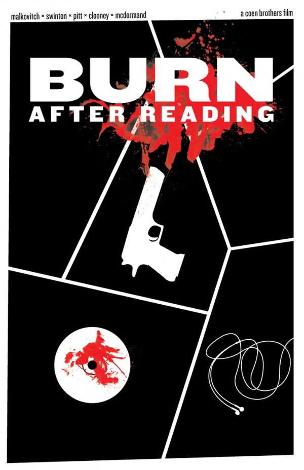 burn after reading Coen Brothers Poster Series