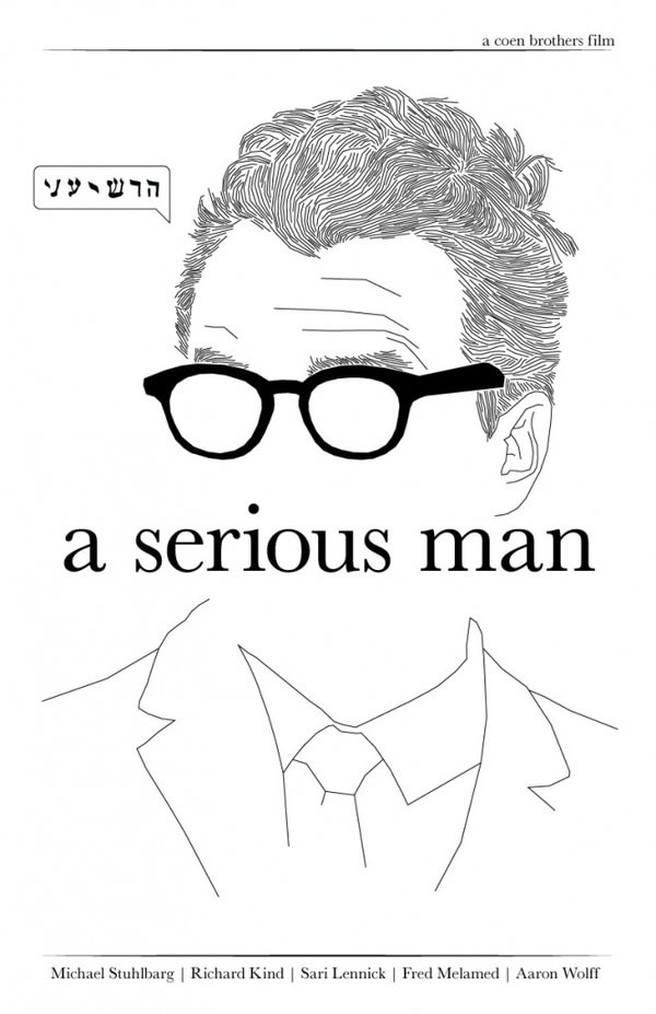 a serious man Coen Brothers Movie Poster Redux