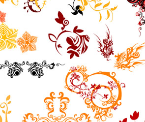 Free Swirl Flower Vectors