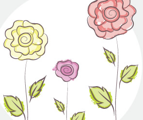 Vector Flower Doodles freebie