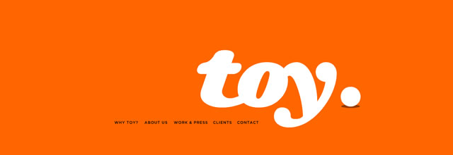 Toy NY bright orange web site