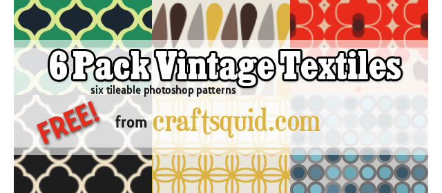 Vintage Textile Patterns comes with 6 Patterns