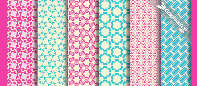 Tileable Vector Patterns comes with 6 Patterns .pat, .png, .ai & .psd