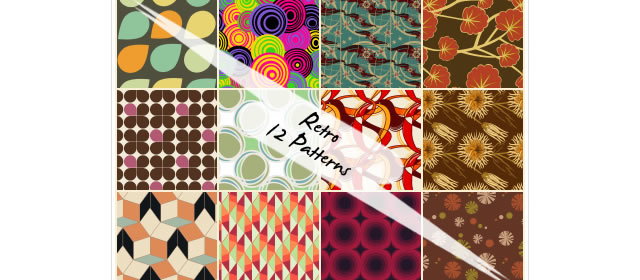 Retro Patterns comes with 12 Patterns