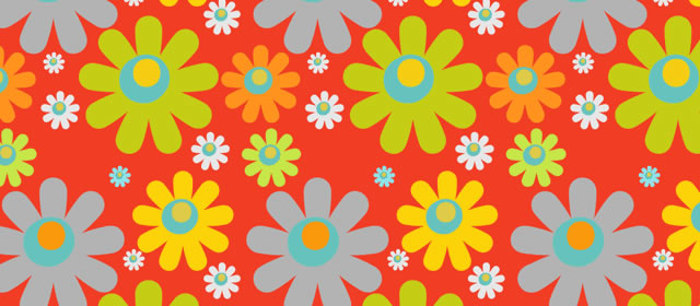 Flower Pattern comes with 4 Patterns