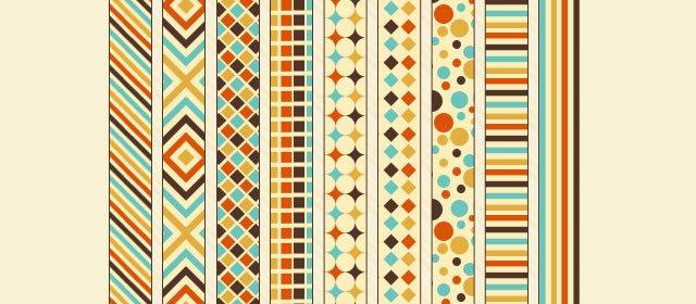 Retro Patterns comes with 9 Patterns