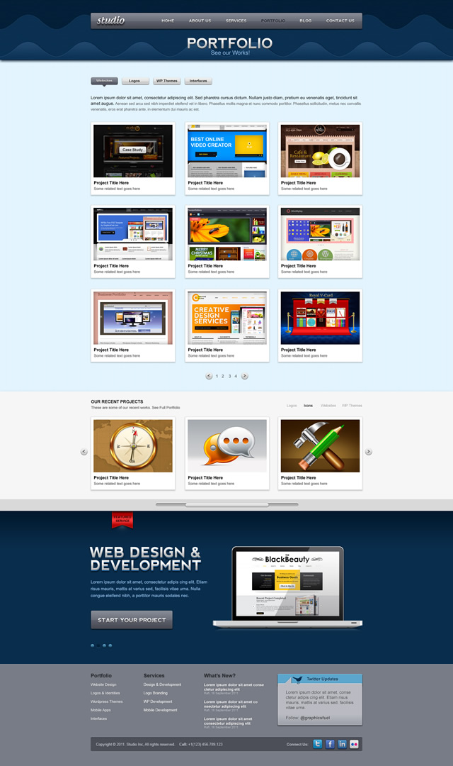 Portfolio Page Preview Studio Website psd